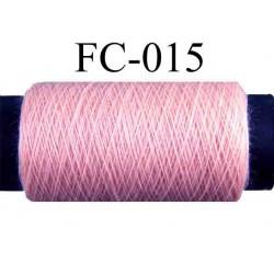 bobine de fil polyester couleur rose longueur 500 mètres fabriqué en France