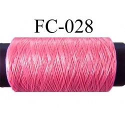 bobine de fil mousse polyamide couleur rose lumineux longueur 500 mètres largeur de la bobine 5.5 cm made in France