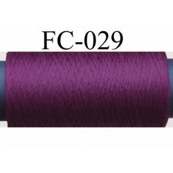 bobine de fil mousse polyamide couleur bordeau lumineux longueur 500 mètres largeur de la bobine 5.5 cm made in france