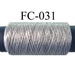 bobine de fil mousse polyamide couleur gris longueur de 500 mètres  fabriqué en France