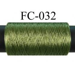 bobine de fil mousse polyamide couleur vert lumineux longueur 500 mètres largeur de la bobine 5.5 cm made in France