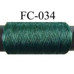 bobine de fil mousse polyamide couleur vert  lumineux longueur 500 mètres fabriqué en France