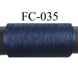 bobine de fil mousse polyester texturé couleur bleu longueur 500  mètres largeur de la bobine 5.5 cm fabriqué en France