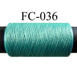 bobine de fil mousse polyamide couleur vert lumineux longueur 500 mètres largeur de la bobine 5.5 cm fabriqué en France