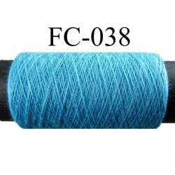 bobine de fil polyester couleur bleu longueur 500 mètres largeur de la bobine 5.5 cm fabriqué en France