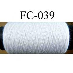 bobine de fil n° 120 polyester couleur blanc longueur 500 mètres largeur de la bobine 5.5 cm fabriqué en France
