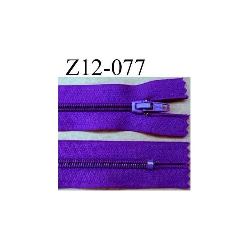 fermeture zip glissi re longueur 12 cm couleur violet fonc non s parable largeur 2 5 cm. Black Bedroom Furniture Sets. Home Design Ideas