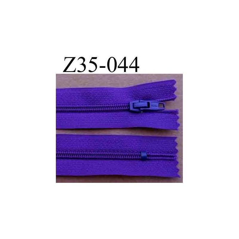 fermeture zip longueur 35 cm couleur violet fonc non s parable largeur 2 5 cm glissi re en. Black Bedroom Furniture Sets. Home Design Ideas