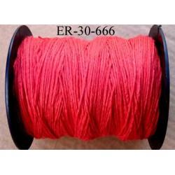 Echevette coton retors réf couleur 666 rouge art 89 longueur de bobine 300 m environ soit 30 échevettes de 10 m à 13 cts