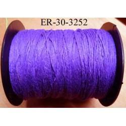 Echevette coton retors réf 3252 couleur violet art 89 longueur de bobine 300 m environ soit 30 échevettes de 10 m à 13 cts