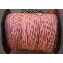 Echevette coton retors réf couleur rose saumon art 89 longueur de bobine 300 m environ soit 30 échevettes de 10 m à 13 cts