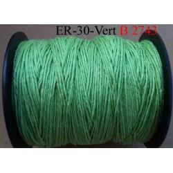 Echevette coton retors réf couleur 2743 vert art 89 longueur de bobine 300 m soit 30 échevettes de 10 m 13 cts l'échevette