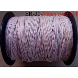 Echevette coton retors réf couleur 111 vieux rose art 89 longueur de bobine 300 m soit 30 échevettes de 10 m 13 cts l'échevette