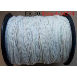 Echevette coton retors réf couleur 4 ecru art 89 longueur de bobine 300 m soit 30 échevettes de 10 m 13 cts l'échevette
