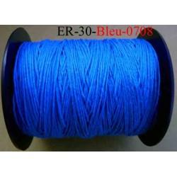 Echevette coton retors réf couleur 0708 bleu  art 89 longueur de bobine 300 m soit 30 échevettes de 10 m 13 cts l'échevette