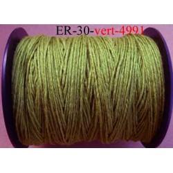 Echevette coton retors réf couleur 4991 vert  art 89 longueur de bobine 300 m soit 30 échevettes de 10 m 13 cts l'échevette