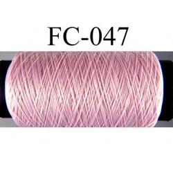 bobine ou cone de fil mousse polyamide couleur rose longueur de 500 mètres fabriqué en france