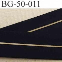 sangle biais ruban gallon haut de gamme couleur noir et bronze en lien central largeur 5 cm souple  très solide incassable