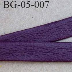 galon biais ruban façon cuir recto verso superbe largeur 5 mm couleur bordeau prune souple épaisseur 1.3 mm prix au au mètre