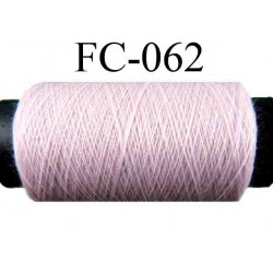 bobine de fil n° 120 polyester couleur rose longueur 500 mètres fabriqué en France