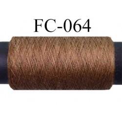 bobine de fil polyester n° 120 couleur marron clair longueur 500 mètres fabriqué en France