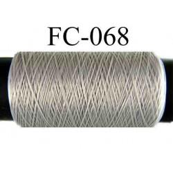 bobine de fil mousse polyamide couleur gris longueur 500 mètres largeur de la bobine 5.5 cm fabriqué en France