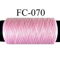 bobine de fil mousse polyamide couleur rose longueur 500 mètres largeur de la bobine 5.5 cm fabriqué en france