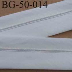 sangle biais ruban gallon haut de gamme couleur blanc cassé largeur 5 cm souple très solide prix au mètre