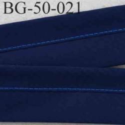 sangle biais ruban haut de gamme couleur bleu marine largeur 5 cm souple vraiment très solide prix au mètre