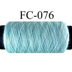 bobine de fil polyester n° 120 couleur bleu longueur 500 mètres fabriqué en France