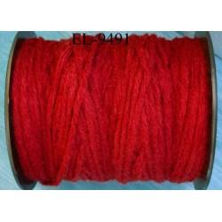 Echevette laine colbert couleur rouge longueur de bobine 100 m soit 12 échevettes de 8 m canevas et tapisserie