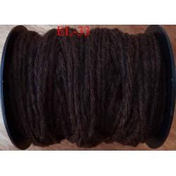 Echevette laine colbert couleur marron foncé longueur de bobine 100 m soit 12 échevettes de 8 m canevas et tapisserie