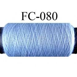 bobine de fil polyester n° 120 couleur bleu longueur 500 mètres largeur de la bobine 5.5 cm fabriqué en France