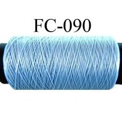 bobine de fil mousse polyamide couleur bleu longueur 500 mètres fabrication en France