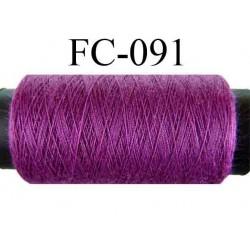 bobine de fil n° 120 polyester couleur violet foncé longueur 500 mètres largeur de la bobine 5.5 cm fabriqué en France