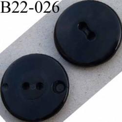 bouton 22 mm noir pvc 4 trous diamètre 22 mm