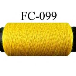bobine de fil n° 120 polyester couleur jaune longueur de la bobine 500 mètres  fabriqué en France