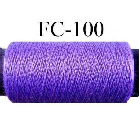 bobine de fil n° 120 polyester couleur violet longueur de la bobine 500 mètres  fabriqué en France