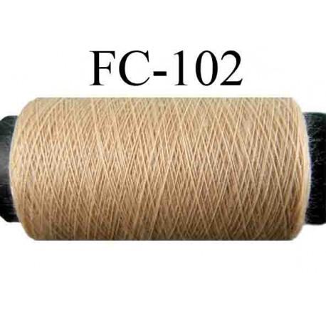 bobine de fil n° 120 polyester couleur chair beige rosé longueur de la bobine 500 mètres fabriqué en France