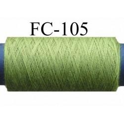 bobine de fil polyester n° 120 couleur vert  longueur de la bobine 500 mètres fabriqué en France
