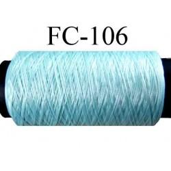 bobine de fil mousse polyamide couleur bleu longueur de la bobine 500 mètres fabriqué en France