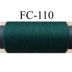 bobine de fil polyester n° 120  vert longueur de la bobine 500 mètres fabriqué en France