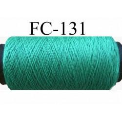 bobine de fil n° 120 polyester couleur vert lumineux longueur de la bobine 500 mètres fabriqué en france
