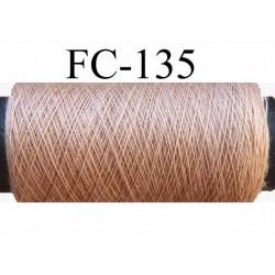 bobine de fil couture n° 120 polyester couleur marron clair longueur de la bobine 500 mètres fabrication France