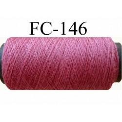 bobine de fil  n° 120 polyester couleur vieux rose longueur de la bobine  500 mètres fabriqué en France