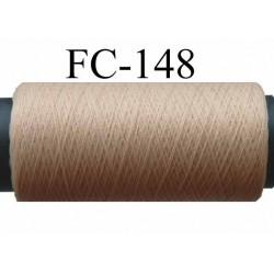 bobine de fil mousse polyester texturé couleur chair peau longueur de la bobine 500 mètres fabriqué en France