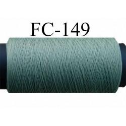 bobine de fil mousse texturé polyester couleur vert kaki clair longueur 500 mètres Fabriqué en France