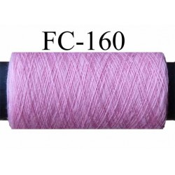 bobine de fil polyester n° 100 couleur rose longueur de la bobine 500 mètres fabriqué en France