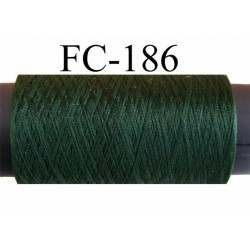 bobine de fil mousse polyester texturé couleur vert longueur de la bobine 500 mètres fabriqué en France