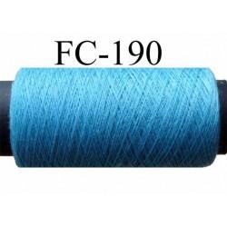 bobine de fil polyester n° 120 couleur bleu opaline longueur de la bobine 500  mètres  fabriqué en France